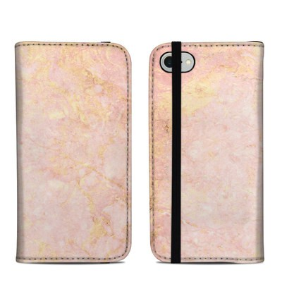 Apple iPhone 8 Folio Case - Rose Gold Marble