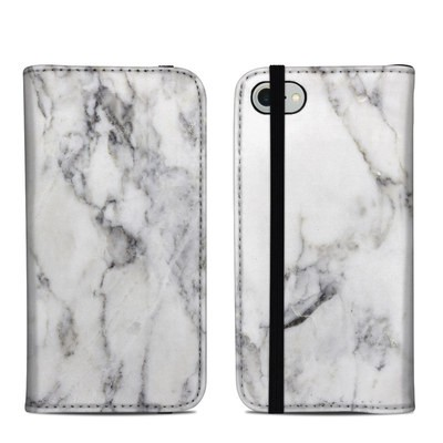 Apple iPhone 8 Folio Case - White Marble