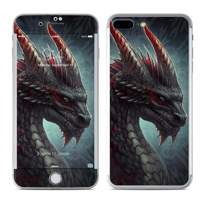 Apple iPhone 8 Plus Skin - Black Dragon
