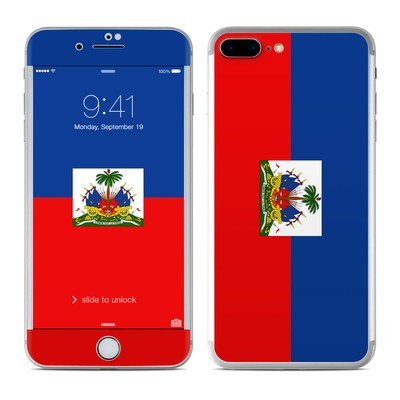 Apple iPhone 8 Plus Skin - Haiti Flag