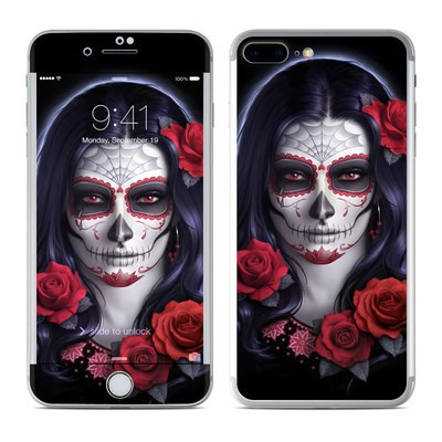 Apple iPhone 8 Plus Skin - Sugar Skull Rose