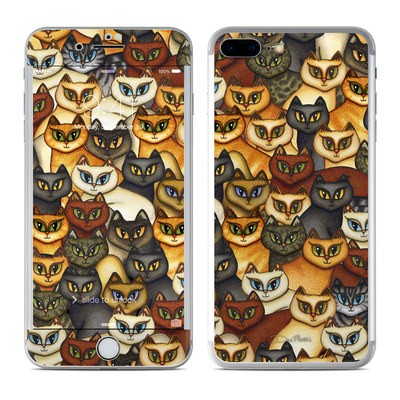 Apple iPhone 8 Plus Skin - Stacked Cats