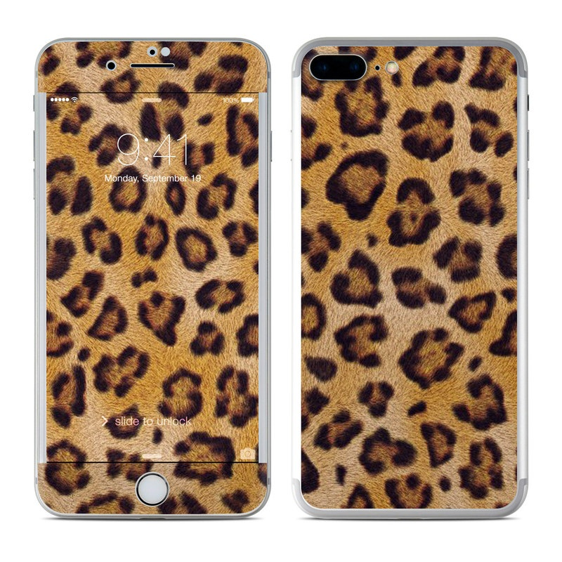 newest 375dc 33f4c Apple iPhone 8 Plus Skin - Leopard Spots