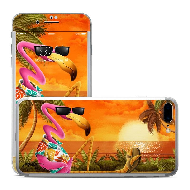 Apple iPhone 8 Plus Skin - Sunset Flamingo