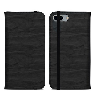 Apple iPhone 8 Plus Folio Case - Black Woodgrain