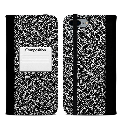 Apple iPhone 8 Plus Folio Case - Composition Notebook