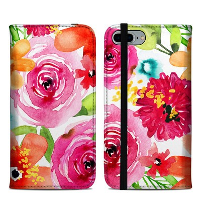 Apple iPhone 8 Plus Folio Case - Floral Pop