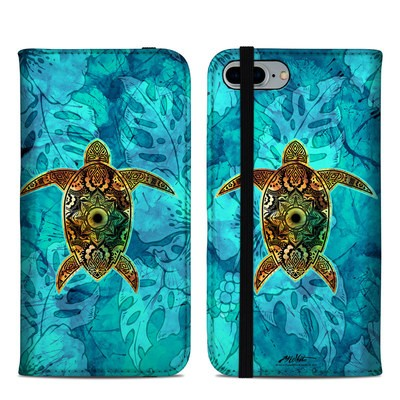 Apple iPhone 8 Plus Folio Case - Sacred Honu