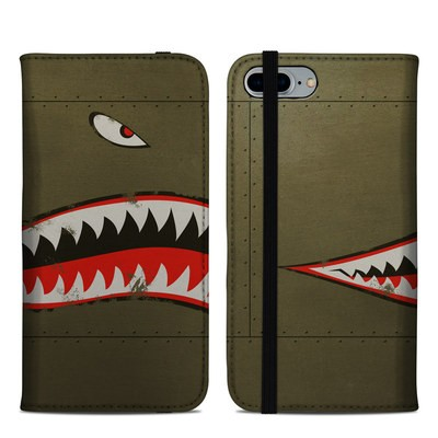 Apple iPhone 8 Plus Folio Case - USAF Shark