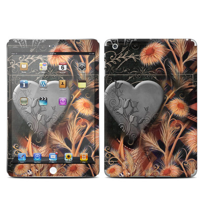 Apple iPad Mini Skin - Black Lace Flower