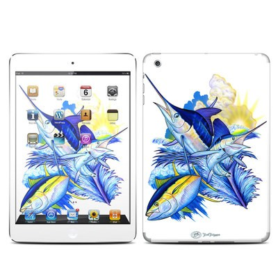 Apple iPad Mini Skin - Blue White and Yellow