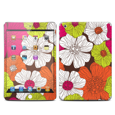 Apple iPad Mini Skin - Brown Flowers
