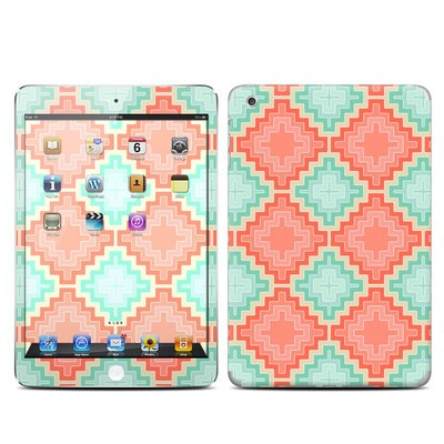Apple iPad Mini Skin - Coral Diamond