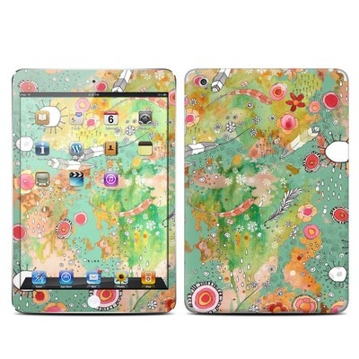 Apple iPad Mini Skin - Feathers Flowers Showers