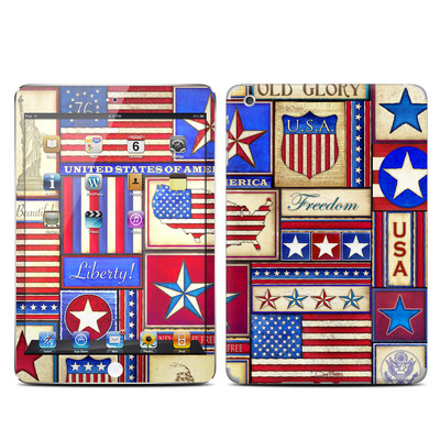 Apple iPad Mini Skin - Flag Patchwork
