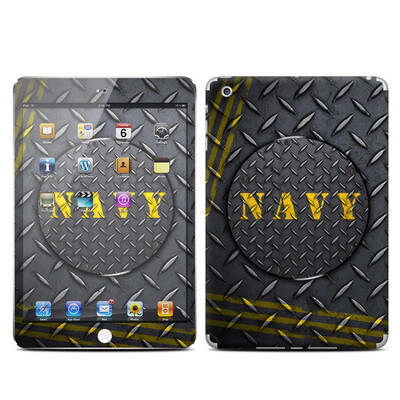 Apple iPad Mini Skin - Navy Diamond Plate
