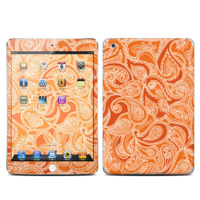 Apple iPad Mini Skin - Paisley In Orange