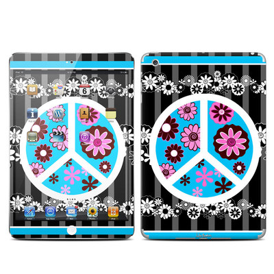 Apple iPad Mini Skin - Peace Flowers Black