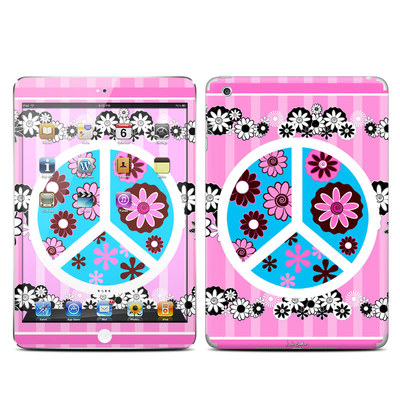 Apple iPad Mini Skin - Peace Flowers Pink