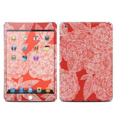 Apple iPad Mini Skin - Red Dahlias