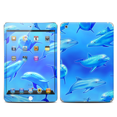 Apple iPad Mini Skin - Swimming Dolphins