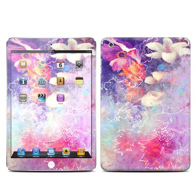 Apple iPad Mini Skin - Sketch Flowers Lily