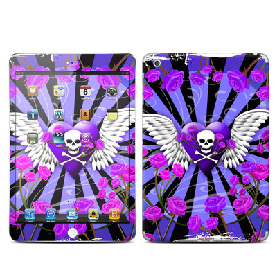 Apple iPad Mini Skin - Skull & Roses Purple