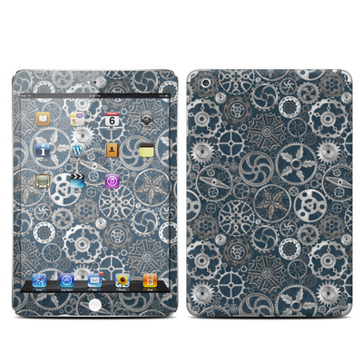 Apple iPad Mini Skin - Silver Gears