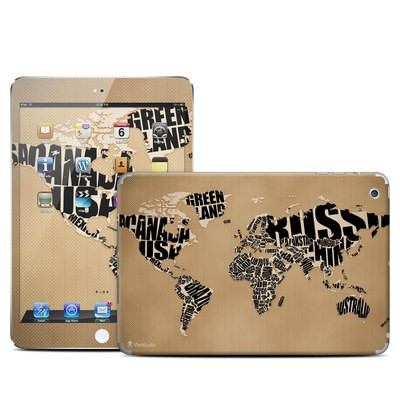 Apple iPad Mini Skin - Type Map