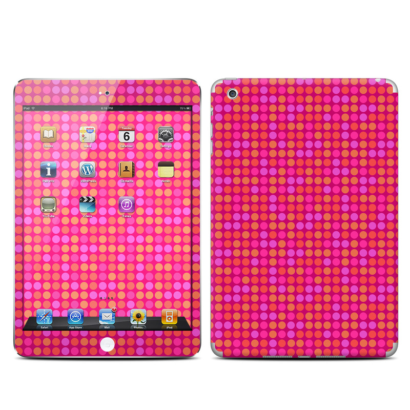 apple ipad mini skin   dots pink by pixel decor decalgirl