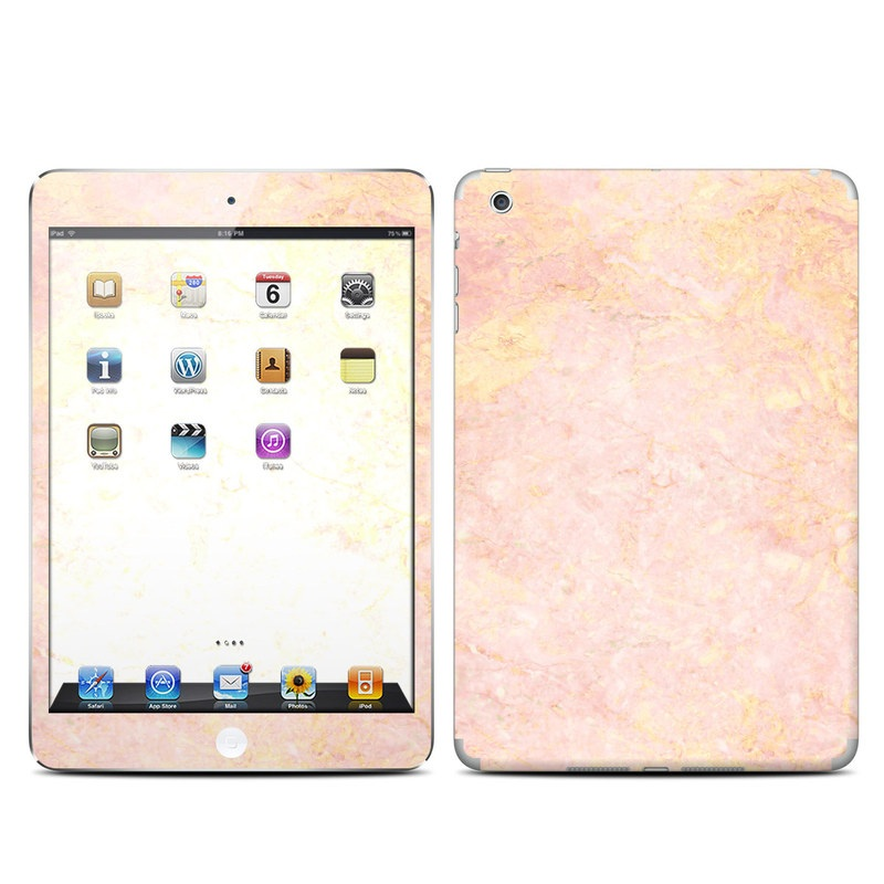 apple ipad mini skin rose gold marble by marble collection decalgirl. Black Bedroom Furniture Sets. Home Design Ideas