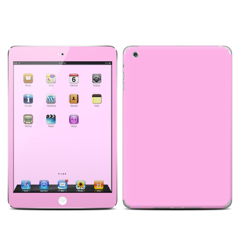 The Glowing Pink Outlined Hearts Skin Set for the Apple iPad All Models Available