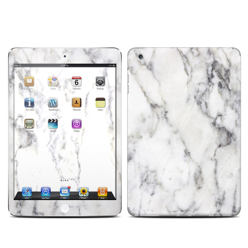 Apple Ipad Mini Skin White Marble By Marble Collection