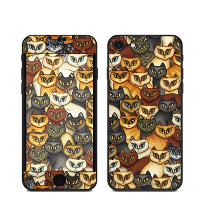 Apple iPhone SE (2020) Skin - Stacked Cats