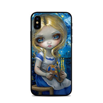 Apple iPhone X Skin - Alice in a Van Gogh