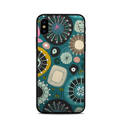 Apple iPhone X Skin - Blooms Teal