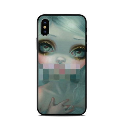 Apple iPhone X Skin - Censored Smile