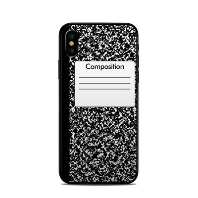 Apple iPhone X Skin - Composition Notebook
