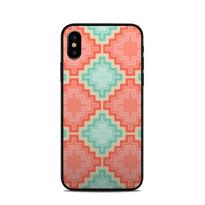 Apple iPhone X Skin - Coral Diamond