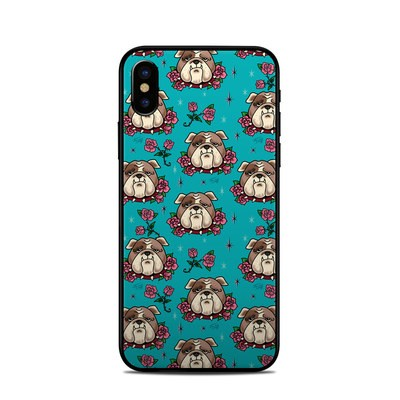 Apple iPhone X Skin - Bulldogs and Roses