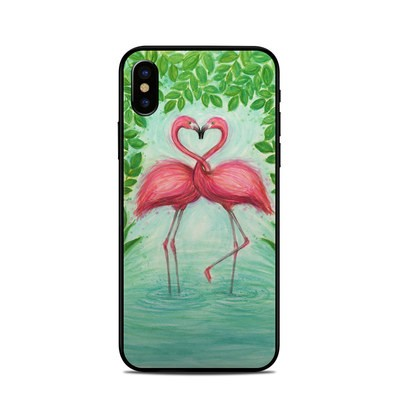 Apple iPhone X Skin - Flamingo Love