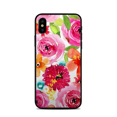 Apple iPhone X Skin - Floral Pop