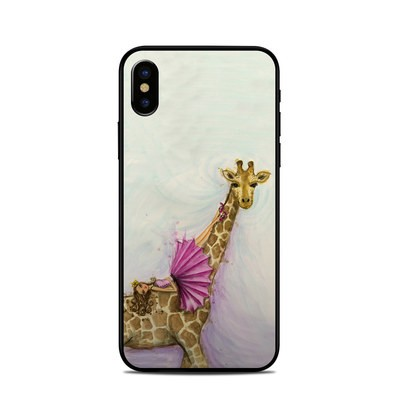 Apple iPhone X Skin - Lounge Giraffe