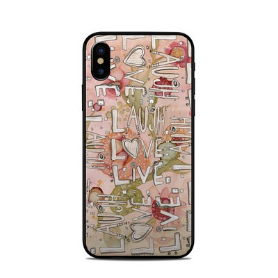 Apple iPhone X Skin - Love Floral