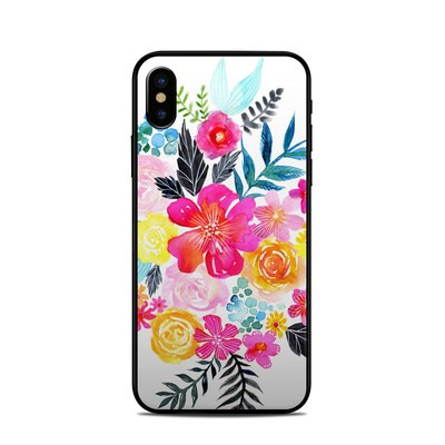 Apple iPhone X Skin - Pink Bouquet