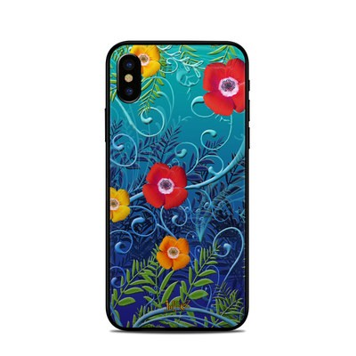 Apple iPhone X Skin - Poppies