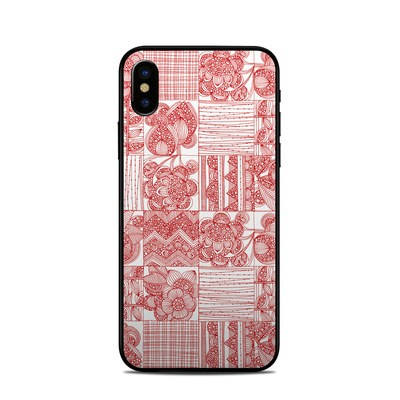 Apple iPhone X Skin - Red Quilt