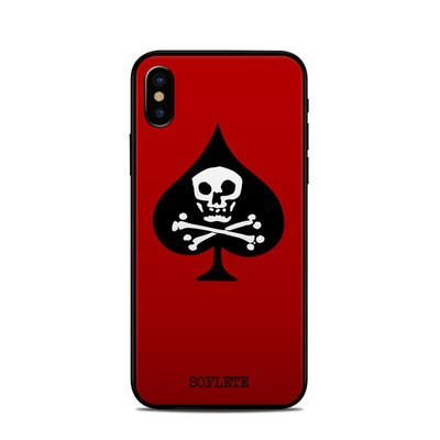 Apple iPhone X Skin - SOFLETE Red Logo