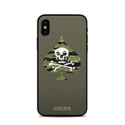 Apple iPhone X Skin - SOFLETE Tiger Stripe Logo