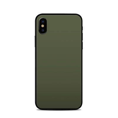 Apple iPhone X Skin - Solid State Olive Drab